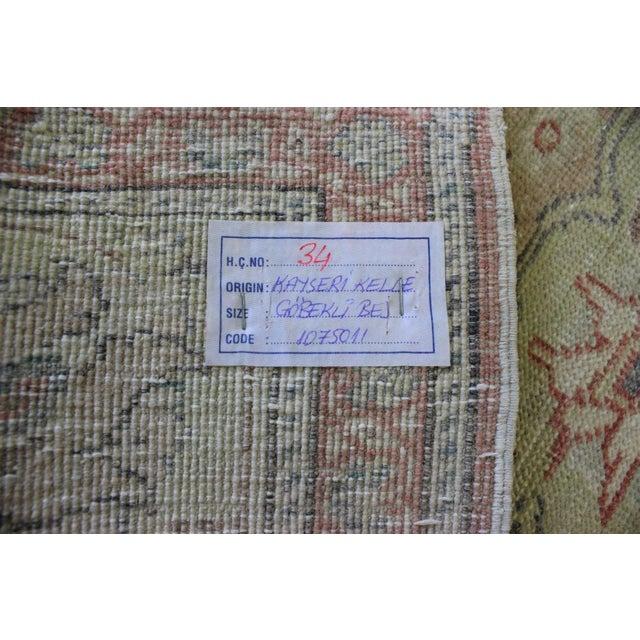"""Turkish Oushak Anatolian Rug - 6'6"""" X 9'10"""" - Image 7 of 7"""