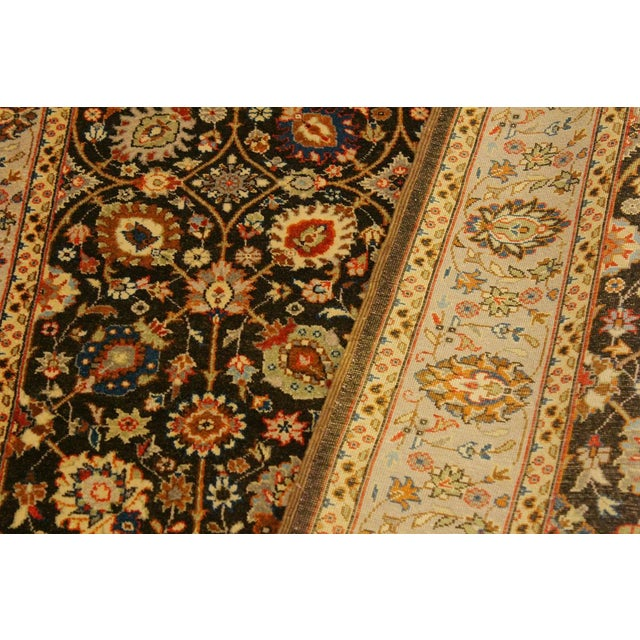 2010s Istanbul Claris Brown/Lt. Tan Turkish Hand-Knotted Rug -4'3 X 6'2 For Sale - Image 5 of 8