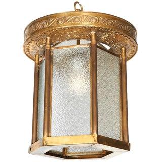 1930s Art Deco Brass Cherub Motif Theatre Lantern For Sale