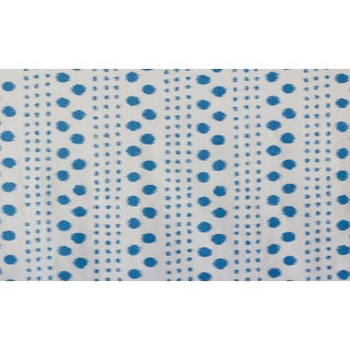 Virginia Kraft Polkat Fabric Sample, Indigo For Sale