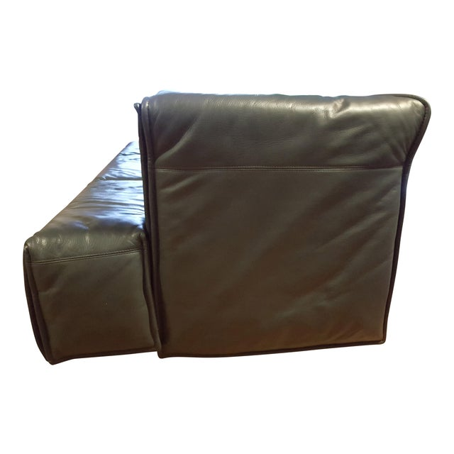 Italian Modern Leather Couch - Image 4 of 5