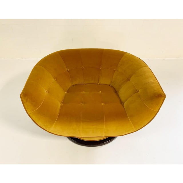 1970s Adrian Pearsall Swivel Lounge Chair in Loro Piana Velvet For Sale - Image 5 of 11