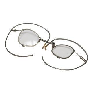 19th Century Pair of Wraparound Metal Glasses, Circa 1880s