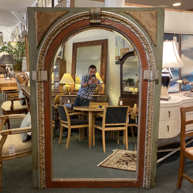 Antique Architectural Distressed Arched Leaning Mirror Chairish