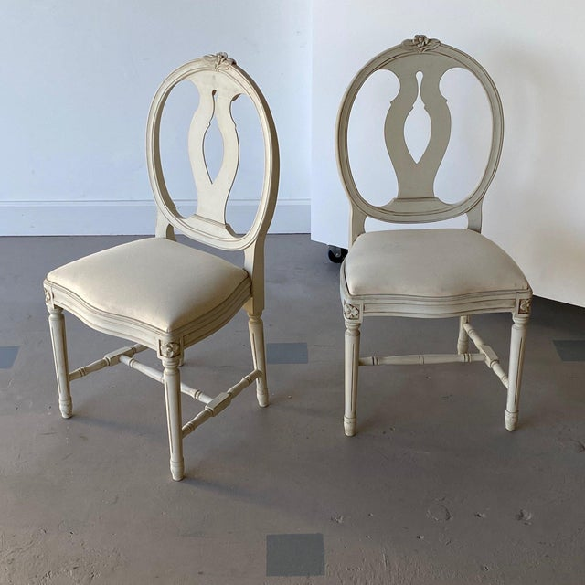 Mid 20th Century Swedish Dining Chairs - A Pair For Sale - Image 12 of 12