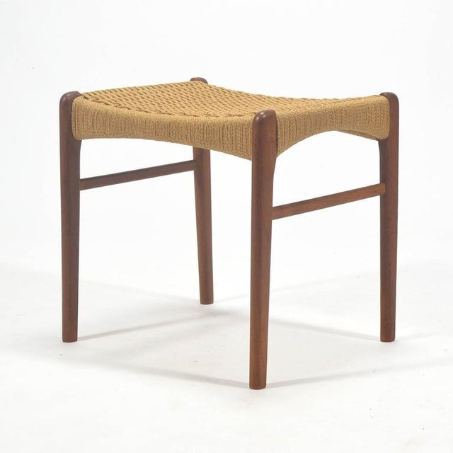 1950s Peder Kristensen Teak Stool by Glyngore Stolefabrik For Sale - Image 5 of 9