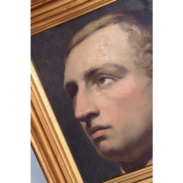 Portrait of a Young Man by Willem Hendrik Schmidt (1809-1849) Dutch For Sale - Image 9 of 13