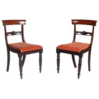 19th Century Faux Bois Regency Chairs - a Pair For Sale