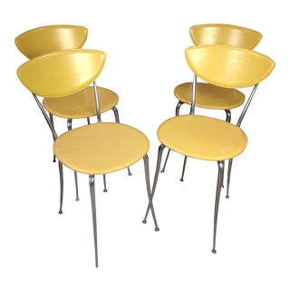 Yellow Arper Chairs - Set of 4 For Sale
