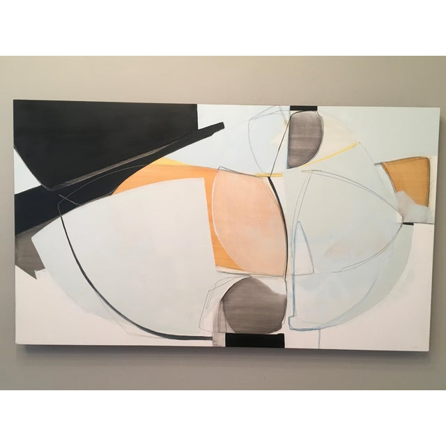 Two Aloof by Rose Umerlik is an abstract painting, Oil and Graphite on wood panel, 28 x 48 Rose Umerlik extracts the...