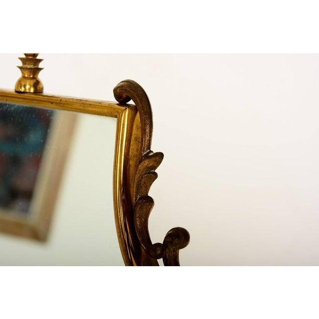 Mid Century Modern Italian Brass Adjustable Vanity For Sale In San Diego - Image 6 of 10