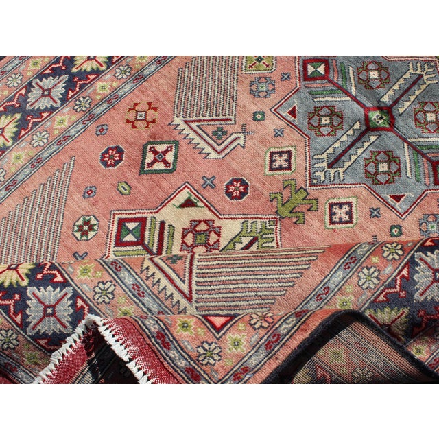 1950s 1950s Semi Antique Afshar Rug - 4′ × 6′ For Sale - Image 5 of 12