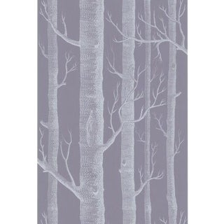 Cole & Son Woods Wallpaper Roll - Ivory/Lilac For Sale