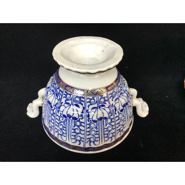 White 19th Century Victorian Blue & White China Lidded Serving Dishes - a Pair For Sale - Image 8 of 11