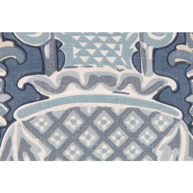 Windsor Linen Brocade Lumbar Pillow - Image 3 of 5