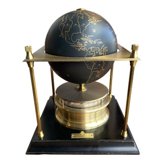 1970s Royal Geographic Society Globe Clock For Sale
