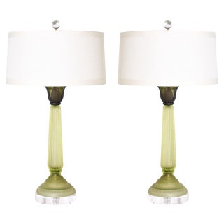 Cendese Column Lamps, C. 1940 - a Pair For Sale
