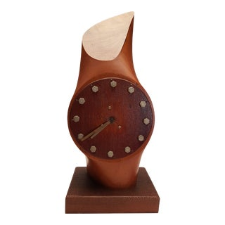 1960s Folk Art Propeller Aviation Mid Century Clock For Sale