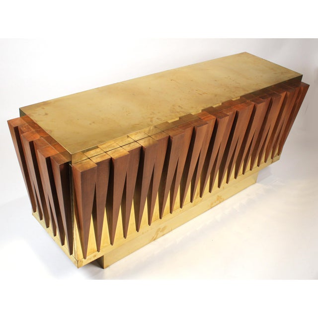 1970s 1970s Custom Paolo Buffa Attributed Credenza for Hotel in Italy For Sale - Image 5 of 10
