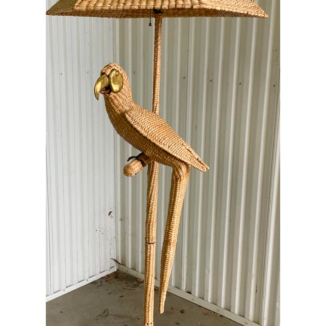 Late 20th Century Vintage Mario Lopez Torres Parrot Floor Lamp For Sale - Image 5 of 9