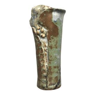 1980s Modern Studio Art Pottery Vase For Sale