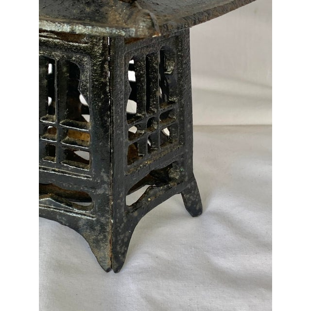 Late 20th Century Vintage Cast Iron Pagoda Lantern For Sale - Image 5 of 9