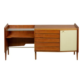 Gio Ponti Exceptional Asymmetric Mahagony Cabinet For Sale
