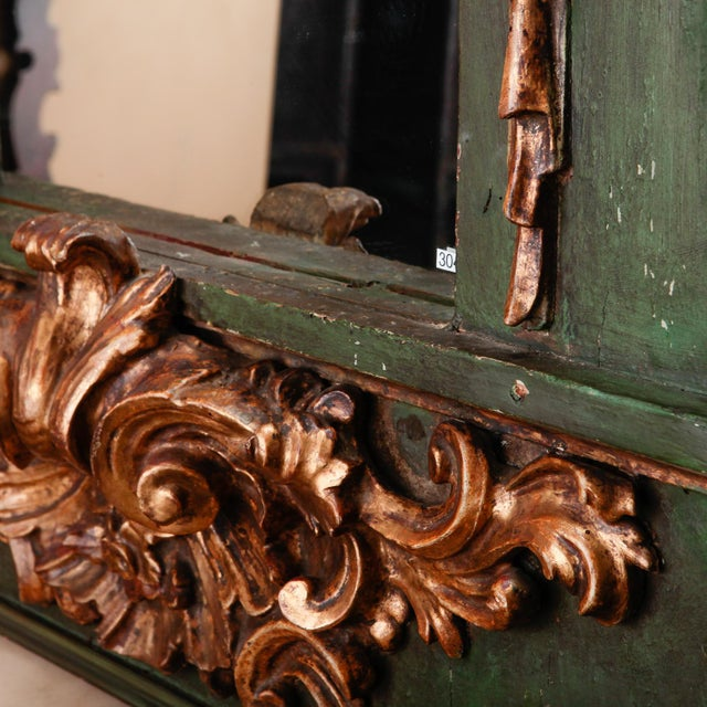 Late 19th Century 19th Century French Painted Mirror With Carved and Gilded Detailing For Sale - Image 5 of 8
