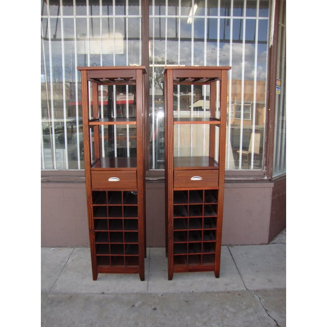 1980s Wooden Wine Cabinets - a Pair For Sale - Image 11 of 11