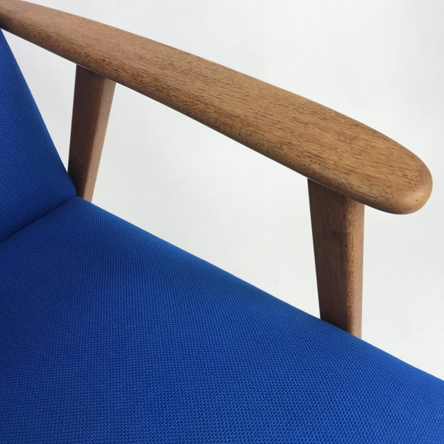 1960s Royal Blue Swedish Modern Lounge Chair For Sale - Image 5 of 13