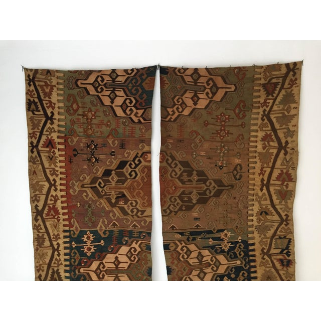 Wall Hanging Mounted Antique Anatolian Turkish Kilim Rugs