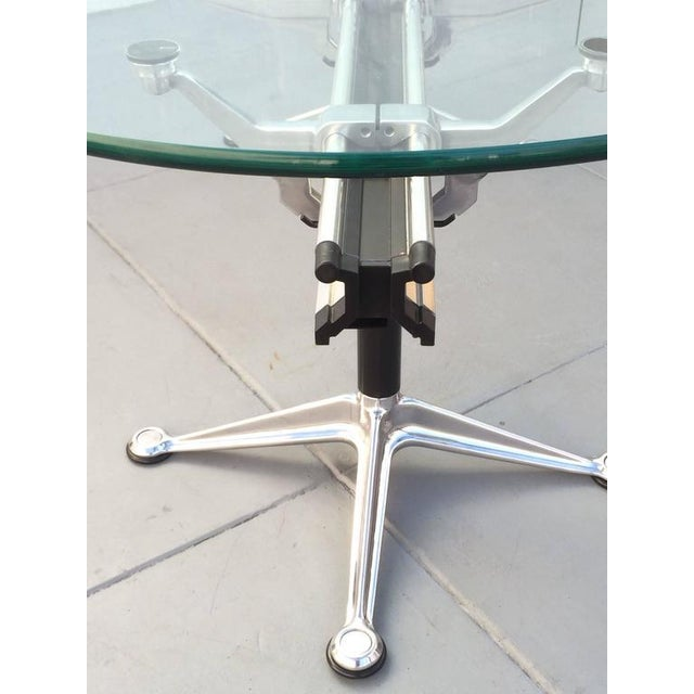 1980s Glass and Aluminum Table Designed by Bruce Burdick for Herman Miller For Sale - Image 5 of 9