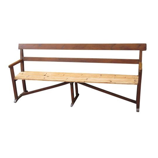 English Pine Long Bench For Sale In Boston - Image 6 of 6