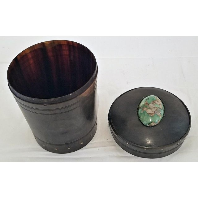 18c Scottish Horn and Polished Stone Tea Caddy For Sale - Image 4 of 12