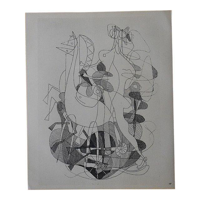 Illustration Mid 20th C. Modern Lithograph-Georges Braque For Sale - Image 3 of 3
