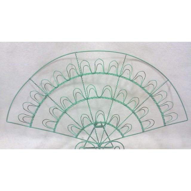 Verdigris Wire Fan Card Display - Image 3 of 5