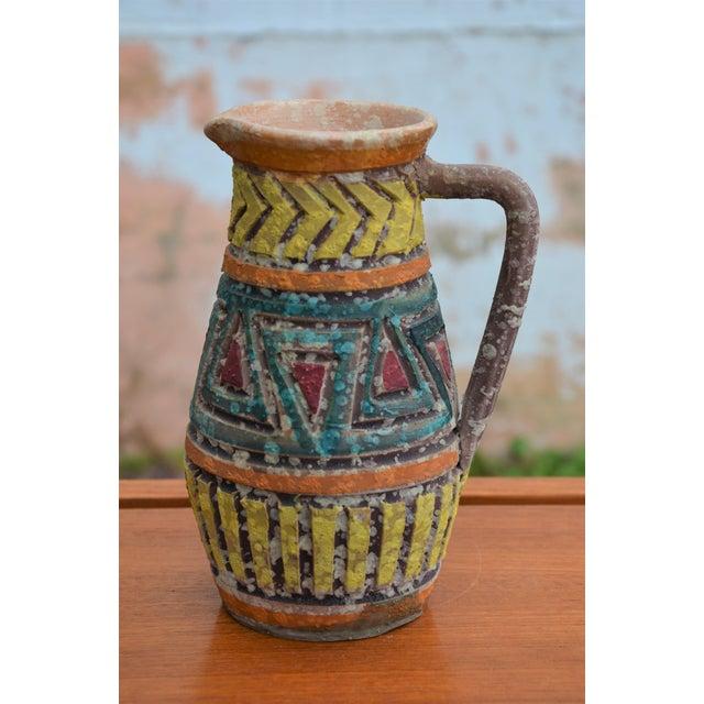 Mid 20th Century Bitossi for Raymor Italian Lava Glaze Sgraffito Pottery Set For Sale - Image 5 of 9