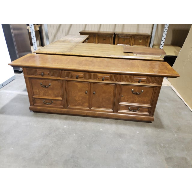 Plywood 20th Century Traditional Jasper Morrison Walnut Executive Desk For Sale - Image 7 of 8