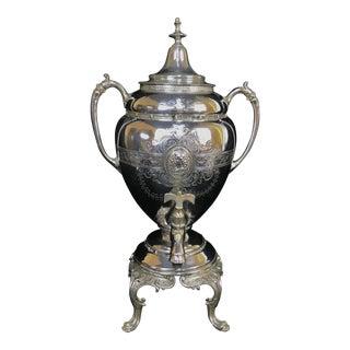1860s Antique Belle Epoque Victorian Hot Water Urn Coffee Carafe