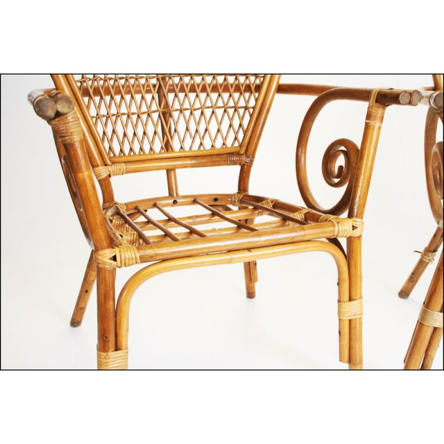 Brown Vintage Bamboo Bentwood Chairs - A Pair For Sale - Image 8 of 11