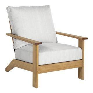 Summer Classics Ashland Teak Lounge in Avila Natural White For Sale