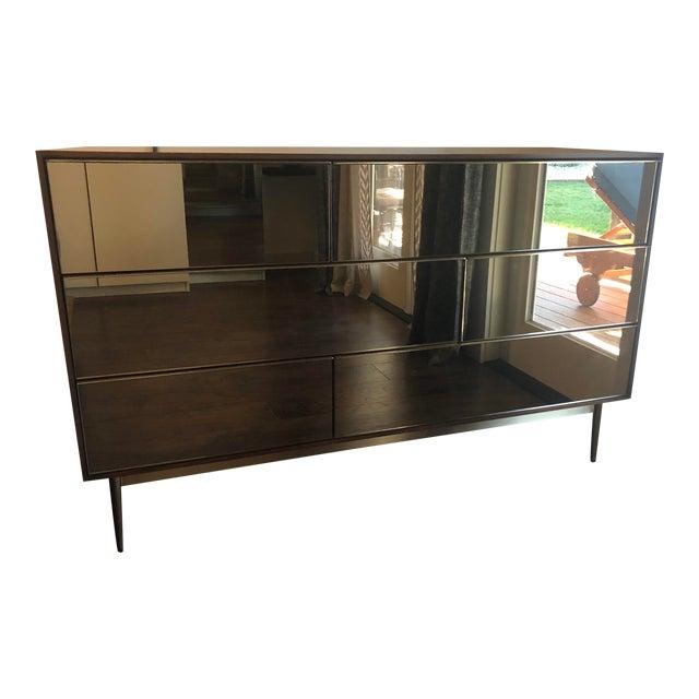 West Elm Nouveau Walnut Mid Century 6 Drawer Dresser For Sale