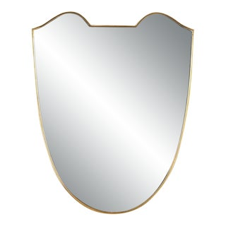 Mid 20th Century Gio Ponti Shield Mirror For Sale