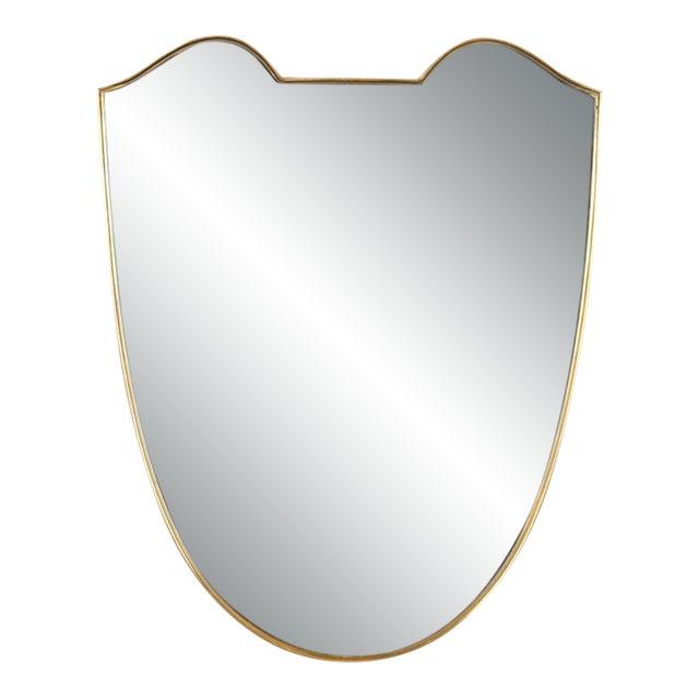 Mid 20th Century Gio Ponti Shield Mirror For Sale