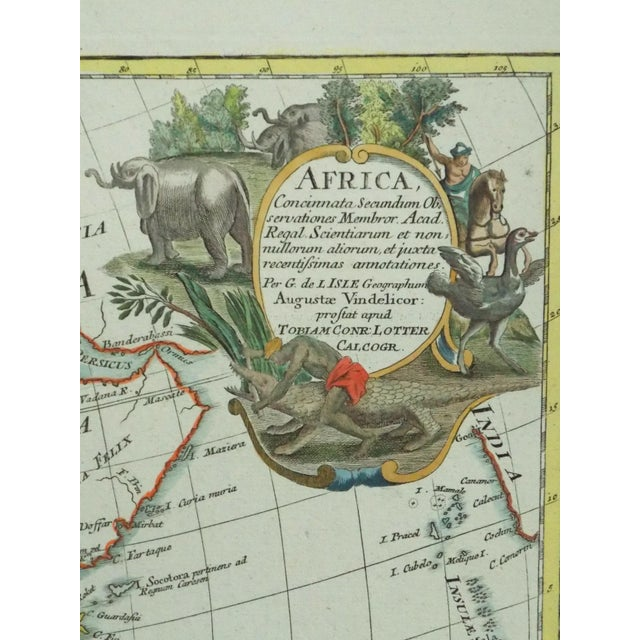 1778 Africa Map by Lotter For Sale - Image 5 of 10