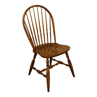 Ethan Allen Country Crossings Bowback Windsor Style Side Chair For Sale