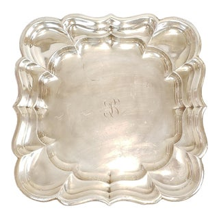"Sterling Silver Reed & Barton Windsor X959 Scalloped Platter Tray 13.5"" 29.62 Toz For Sale"