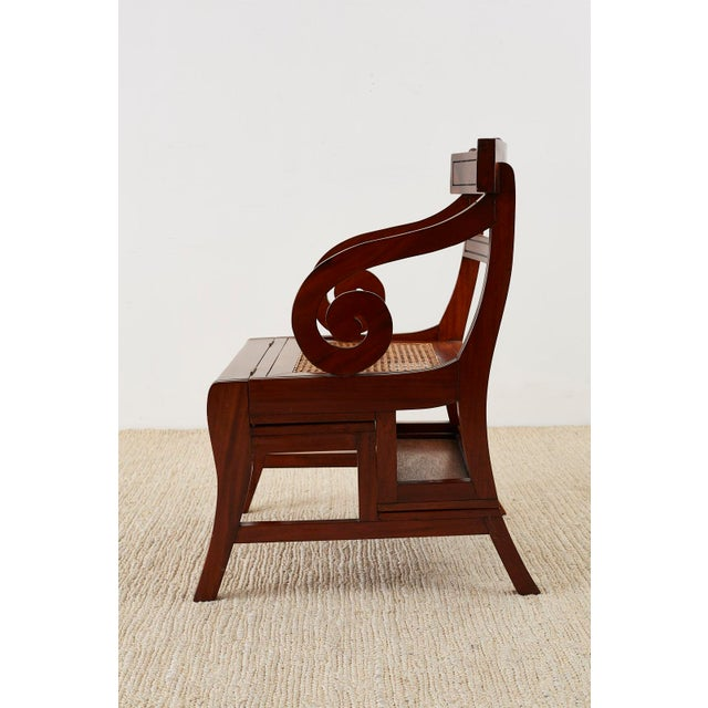 Regency English Regency Style Mahogany Metamorphic Library Step Chair For Sale - Image 3 of 13