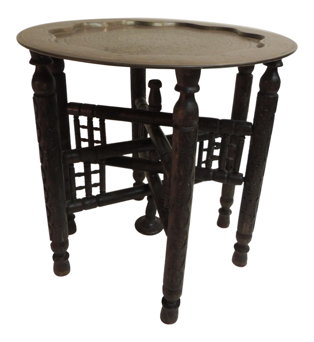 Vintage Used Moroccan Tables Chairish