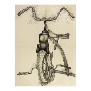 Tricycle Pencil & Ink Drawing